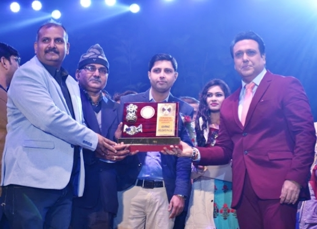 Team   Ashirwad Receiving Purvanchal Icon Awards.